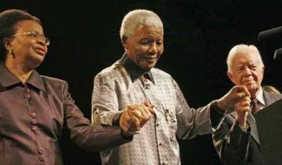 Nelson Mandela, his wife, Graca Machel, and former president Jimmy Carter have joined a humanitarian alliance.