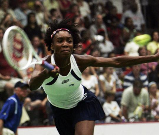 Venus Williams was unbeatable, winning singles, doubles, and mixed doubles matches.