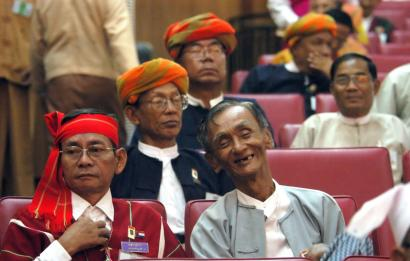 More than 1,000 delegates gathered for Burma's national convention in Nyaung-Hna-Pin yesterday. Critics call the meeting a sham because the junta chose most of the delegates.