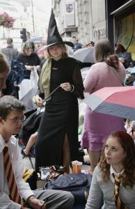 Harry Potter fans lined up outside a London bookstore to buy 'Harry Potter and the Deathly Hallows,' the last book in J.K. Rowling's series.