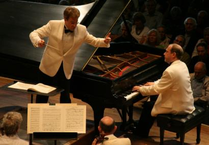 Pianist Marc-Andr&#233; Hamelin performs at Tanglewood Sunday with the BSO, conducted by Jens Georg Bachmann.