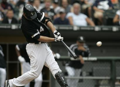 Paul Konerko provided the difference for the White Sox in their doubleheader opener against the Tigers with a two-run homer in the sixth inning.