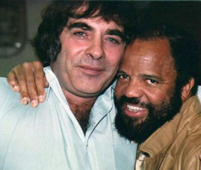 Songwriter Ron Miller (left), with Motown Records founder Barry Gordy.