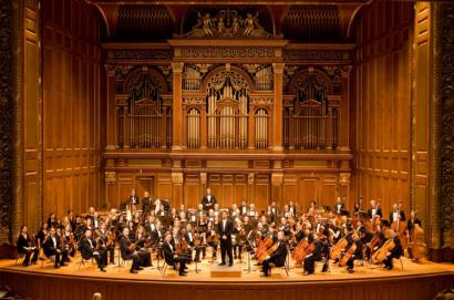 The Longwood Symphony Orchestra, on stage at Jordan Hall, has raised over $700,000 for medical programs since 1991.