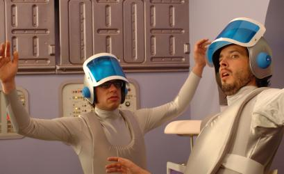 Jemaine Clement and Bret McKenzie (from left, in a David Bowie-inspired number) first combined their love of comedy and music in their duo, Flight of the Conchords, and have now done so in the HBO series of the same name.