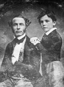 Robert E. Lee with William Henry Fitzhugh, one of his seven children.