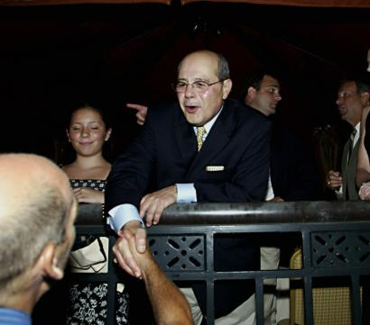 Vincent Cianci, former Providence mayor, attended the WaterFire event yesterday after being freeed from US custody.
