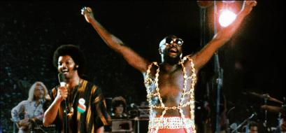 Isaac Hayes -- onstage with Jesse Jackson (left) in the movie 'Wattsstax' -- was a driving force behind Stax Records.