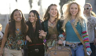 In 'Bratz,' Logan Browning, Janel Parrish, Nathalia Ramos, and Skyler Shaye (from left) play characters based on the children's dolls.