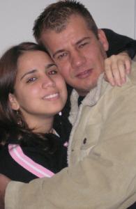 Edmar Alves Araujo with his niece, Adaias Domingues.