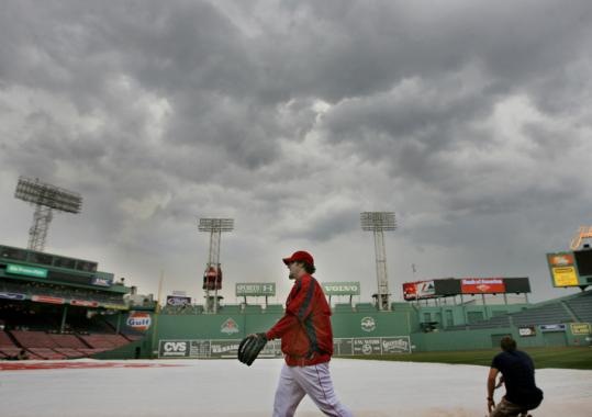 Right now there seems to be a dark cloud over Eric Gagné, but it could pass quickly, as these did last night at Fenway Park.