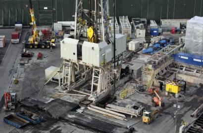 This energy research project in Basel, Switzerland, was put on hold after temblors generated by drilling shook the region.