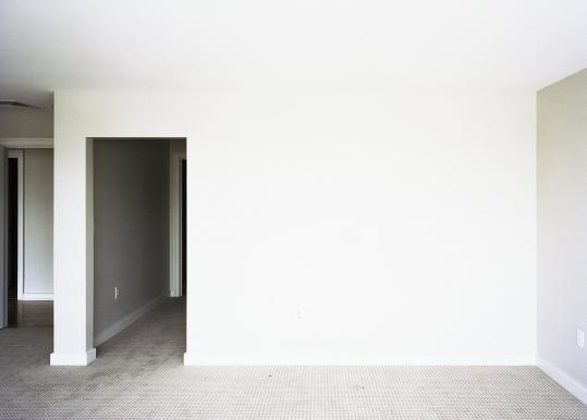Youngsuk Suh's 'Room 506,' part of the 'Formalism?' show at Jane Deering Gallery, is one of a series of high-contrast photos of empty rooms.