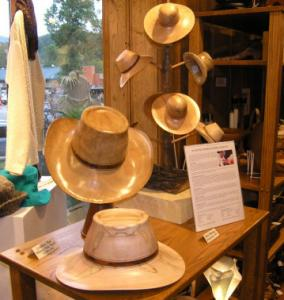 Wooden cowboy hats by Chris Ramsey of Somerset, Ky.