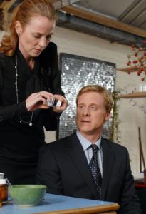 Daisy Donovan and Alan Tudyk play an engaged couple in 'Death at a Funeral.'