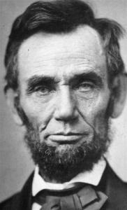 Gelernter ranks President Bush with Lincoln (shown in an 1863 photo) as an apostle of the American religion.