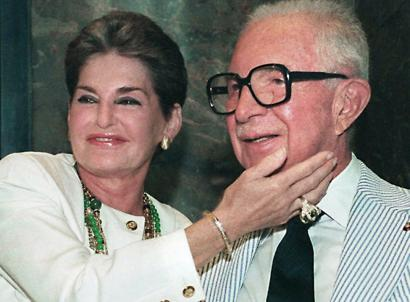 Leona Helmsley, with her husband, Harry. She served 21 months in jail for tax-evasion.
