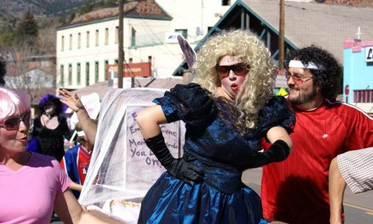 Contestants in the Emma Crawford Memorial Coffin Race in Manitou Springs, Colo., are a notably lively bunch.