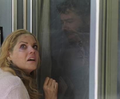 Mary McCormack and Rory Cochrane play a married couple who become separated during a terrorist dirty bomb attack in the thriller 'Right at Your Door.'