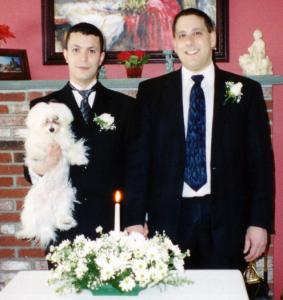 Genesio Oliveira (left) and Tim Coco on their wedding day in 2005.