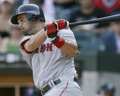 With four hits yesterday -- and nine in the series -- Mike Lowell is batting .458 when hitting fifth in the order.
