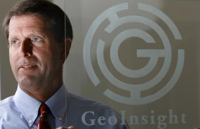 John A. Gilbert, CEO of GeoInsight, an environmental and engineering consulting firm, in his Manchester, N.H., office.
