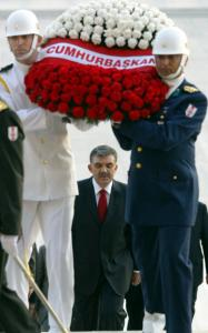 President Abdullah Gul visited the mausoleum yesterday of Turkey's founder, Mustafa Kemal Ataturk.