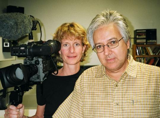 Cambridge filmmaker Allie Humenuk (left, with Abelardo Morell in 2003) collected about 150 hours of footage of the photographer while making the documentary ``Shadow of the House.'