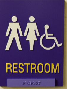 A gender-neutral bathroom sign at Emerson College.