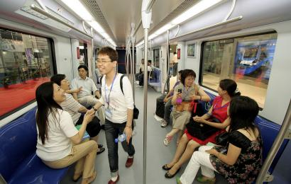 By 2020, the Shanghai subway system is expected to include 22 lines and hundreds of stations. The system would stretch about 560 miles and serve more than 12 million people a day.