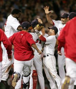The Red Sox didn't hold back on their enthusiasm after Clay Buchholz finished off the Orioles in the ninth to complete his no-hitter.