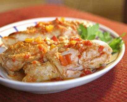 Chicken Basquaise - The Boston Globe