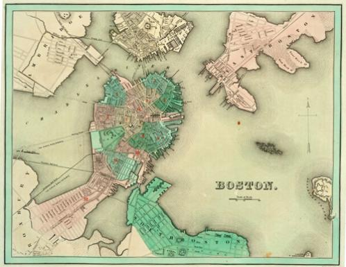 Historic Maps Of Boston New England And The World