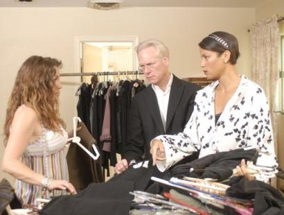 Tim Gunn and Veronica Webb (right), his supermodel sidekick, with Karen on 'Tim Gunn's Guide To Style.'