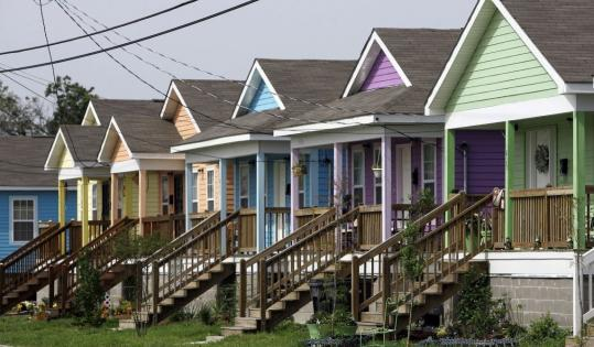 The new Musicians' Village in New Orleans' Upper Ninth Ward is a joint effort by Habitat for Humanity and Harry Connick Jr. and Branford Marsalis, musicians and both natives of the city.