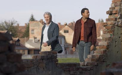 Richard Gere (left) and Terrence Howard star in 'The Hunting Party,' a film from Richard Shepard based on the real misadventure of some journalists in Bosnia.
