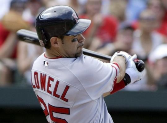 All-Star third baseman Mike Lowell delivered Boston's first two runs with a line single to center in the third inning.