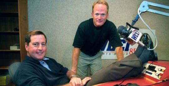 For the first time since May, John Dennis (left) and Gerry Callahan are expected to be on the air together at WEEI today.