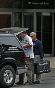 Police investigated a burglary at Mitt Romney's presidential campaign headquarters on Commercial Street in the North End. Computers and a plasma television were taken.
