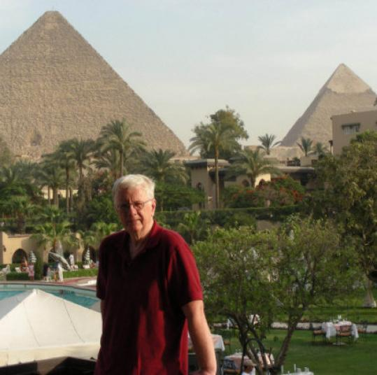 Walter Costello's Cairo hotel was in the shadow of the Great Pyramid.