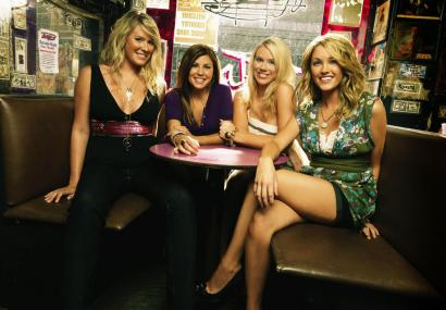 Among the fame-seekers staging hookups and romantic hang-ups for the cameras are (from left) Sarah Gunsolus, Lindsey Hager, Rachel Bradshaw, and Mika Combs.