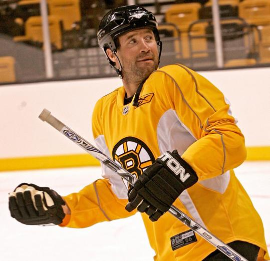 The versatile Glen Metropolit hopes to be a lingering guest after his invitation to Bruins training camp.