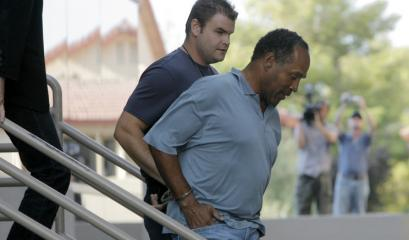 O.J. Simpson was transferred to Clark County Detention Center in Las Vegas yesterday to be held for an alleged robbery.