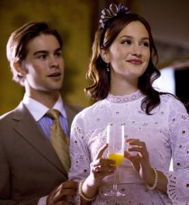 Chace Crawford (left) and Leighton Meester in the soapy CW show 'Gossip Girl.'