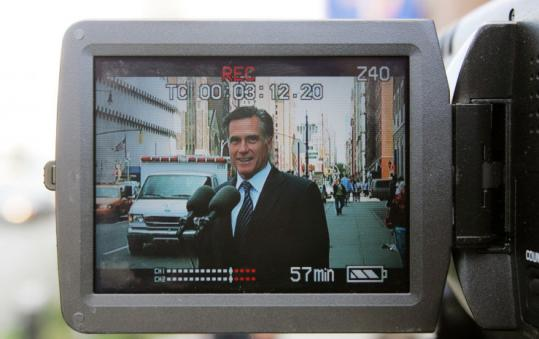 Mitt Romney bashed Hillary Clinton's healthcare proposal yesterday on a video clip made outside a New York hospital.
