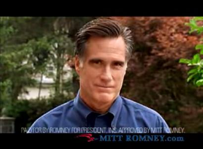 A view of Mitt Romney's new TV ad, which is already airing in New Hampshire and will soon be shown in Iowa.