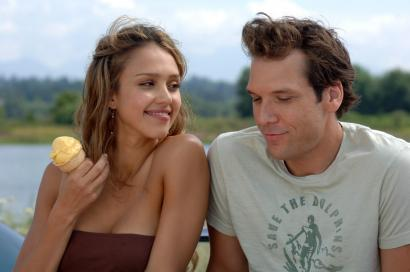 Jessica Alba plays Dane Cook's ditzy love interest in the romantic comedy 'Good Luck Chuck.'