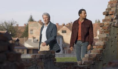 Richard Gere (left) and Terrence Howard track a war criminal in Bosnia in 'The Hunting Party.'
