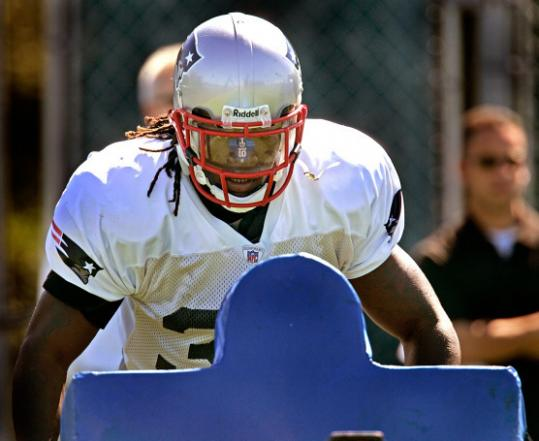 - Patriot Laurence Maroney is determined to change his upright running style for the better.