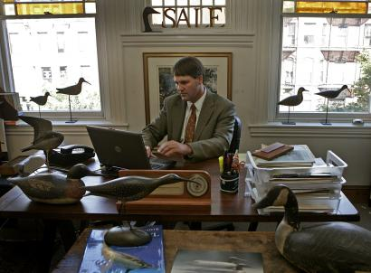 A. Elmer Crowell's drake (top) and goose have changed hands among collectors seeking a return on investment.